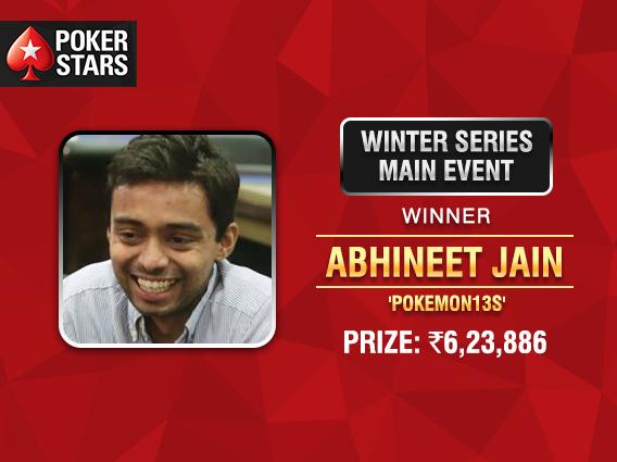 Abhineet Jain wins PokerStars Winter Series Main Event