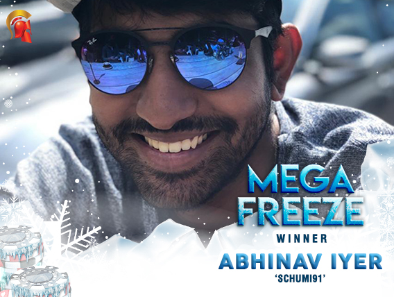 Abhinav Iyer takes down Spartan Mega Freeze