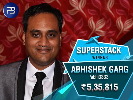 Abhishek Garg SuperStack Winner