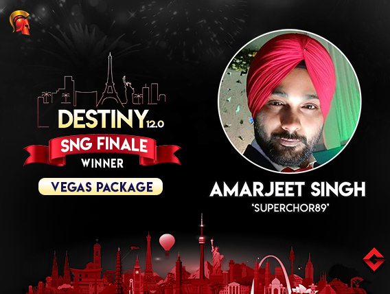 Amarjeet Singh wins the Destiny 12.0 SnG Finale