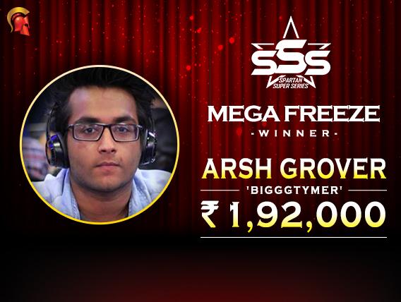 Arsh Grover Mega Freeze SSS