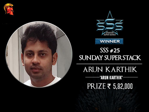 Arun Karthik SSS Superstack Winner