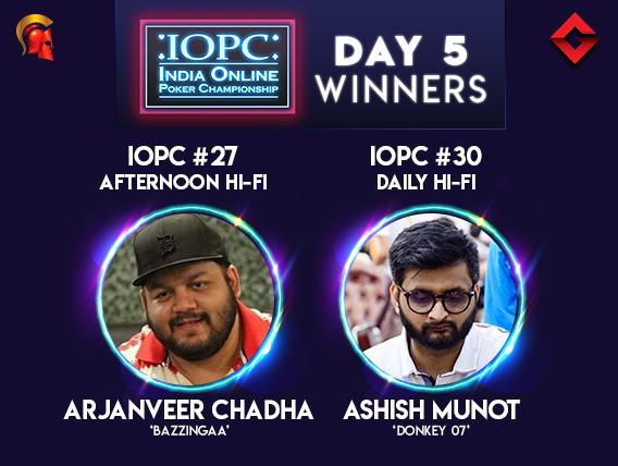 Chadha and Munot triumph on IOPC Day 5