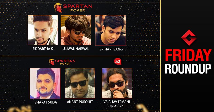 Friday Roundup: Suda, Purohit, Khandelwal, Narwal, Bang win big