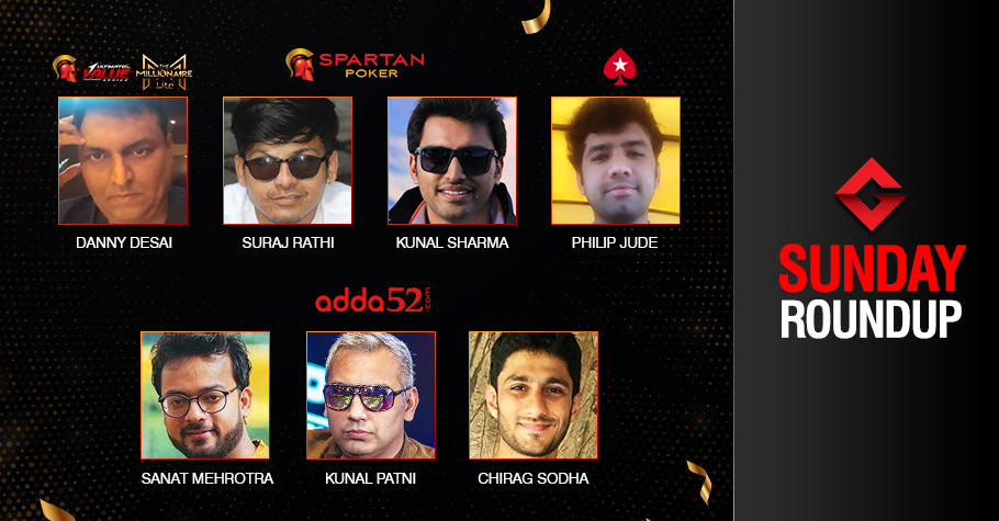 Sunday Roundup: Chirag Sodha wins Adda52 Full House for INR 25L!