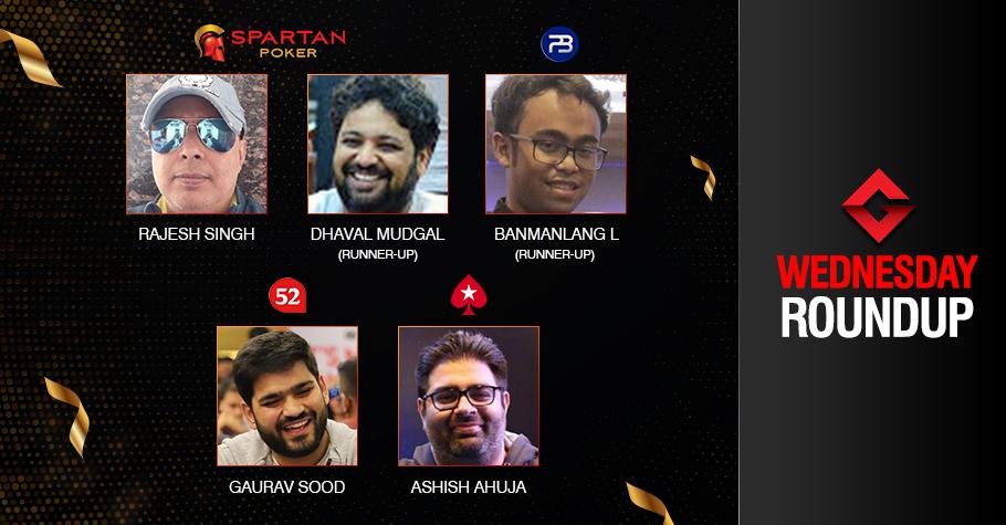 Wednesday Roundup: Singh, Sood, Ahuja claim titles