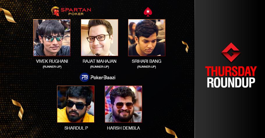 Thursday Roundup: Parthasarathi, Dembla conquer events!