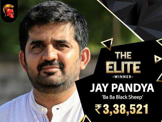 Jay Pandya The Elite Winner