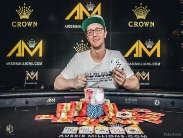 Kahle Burns Wins Aussie Millions A$100,000 Challenge!
