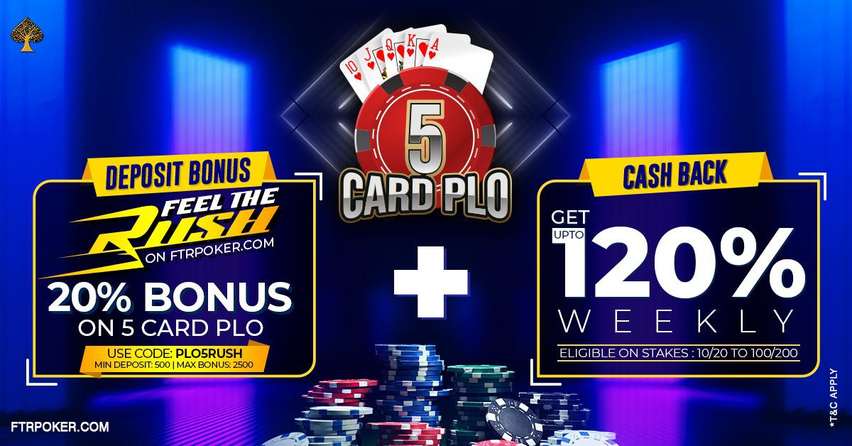 Last few days to get 5 card PLO bonus on FTRpoker