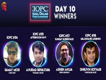 Modi, Srivastava, Kothari, Ahuja claim IOPC Day 10!