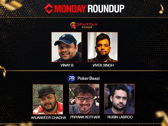 Monday Roundup: Vinay, Singh, Labroo, Kothari, Chadha grab titles!