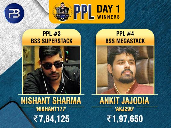 PPL Day1 Winners