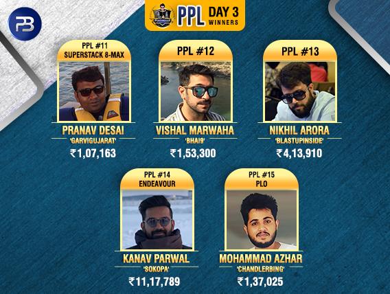 PPL Day3 Winners