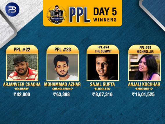PPL Day5 Winners