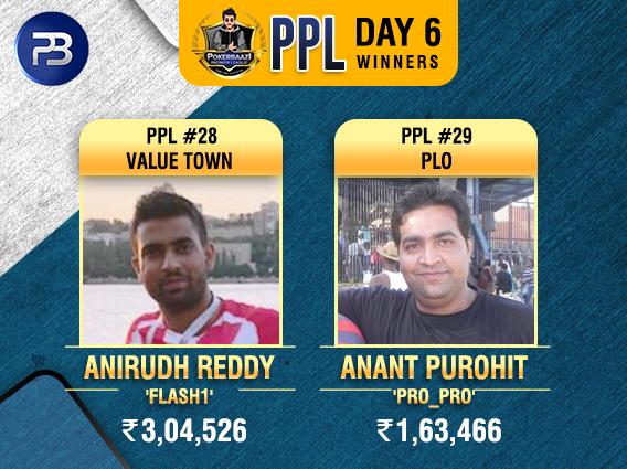 PPL Day6 Winners