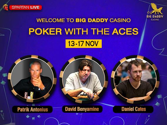 Patrik Antonius David Benyamine to play at Big Daddy Casino