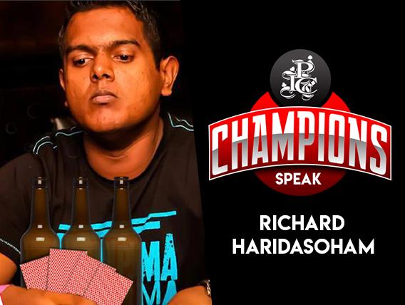 Richard Haridasoham speaks on his IPC 2012 victory!