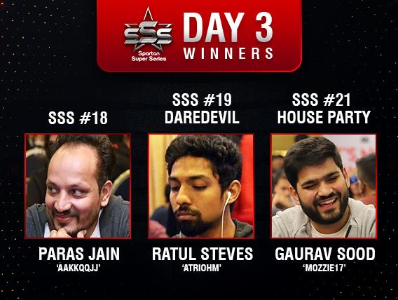 SSS Day 3: Jain, Steves, Sood among title winners