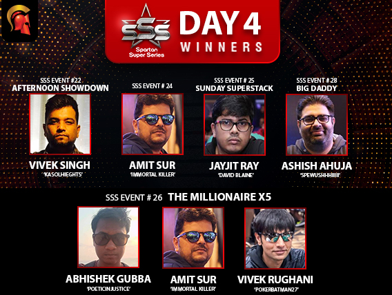 SSS Day 4: Gubba, Sur, Rughani seize Millionaire X5 title!