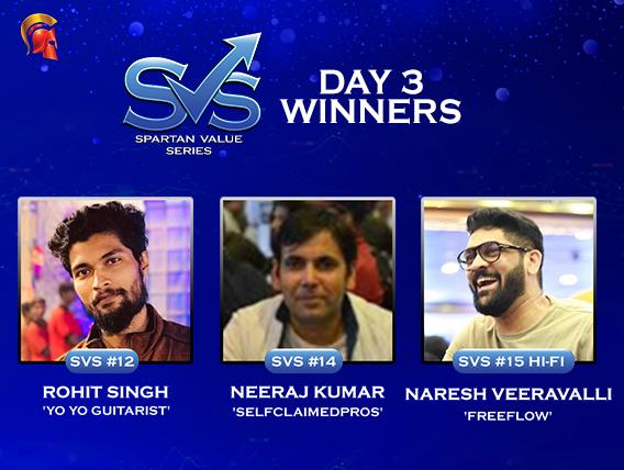 SVS Day 3: Singh, Veerapalli, Kumar among title winners