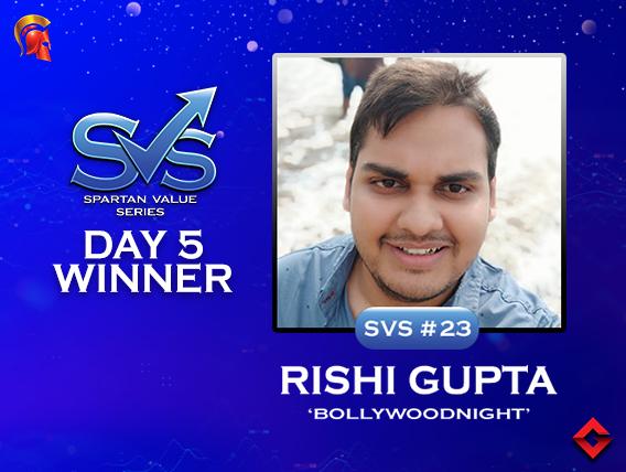 SVS Day 5: Rishi Gupta among title winners