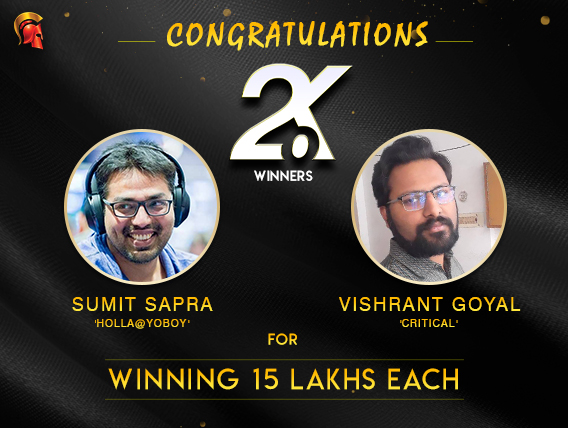 Sumit Sapra and Vishrant Spartan Winner