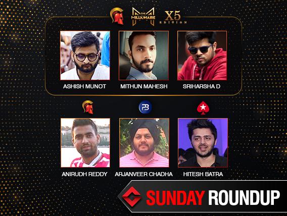 Sunday Roundup: Munot, Mahesh, Srisharsha win Millionaire X5
