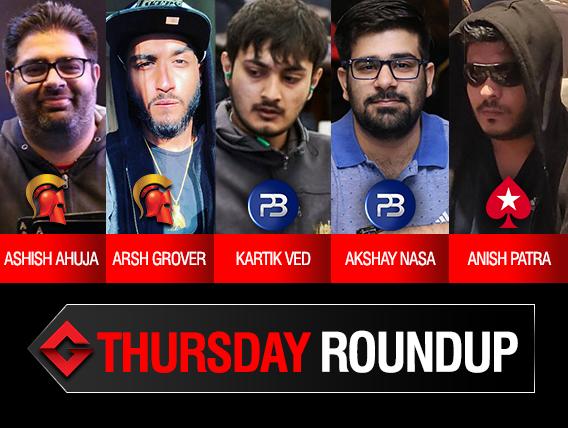 Thursday Roundup: Ahuja, Grover, Nasa, Patra conquer events!
