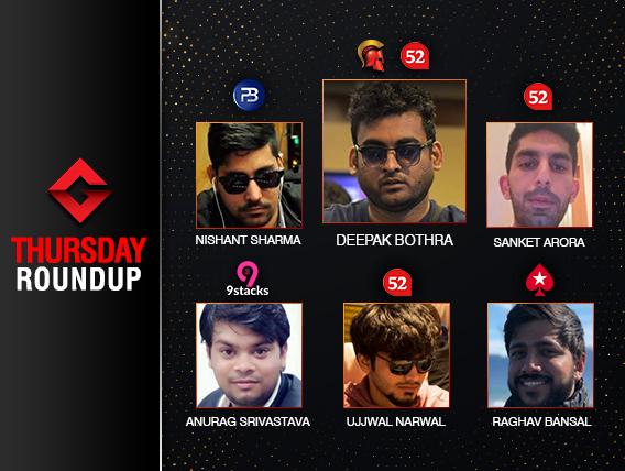 Thursday Roundup: Deepak Bothra wins two majors last night!