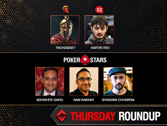 Thursday Roundup: Kartik Ved, Abhishek Garg among winners