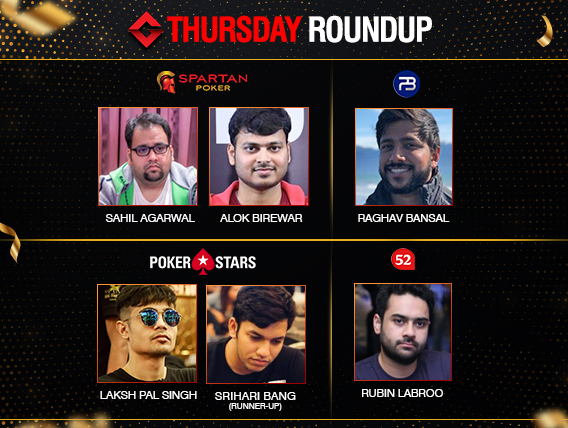 Thursday Roundup: Sahil Agarwal wins SSS Super High Roller!