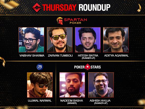 Thursday Roundup: Sharma, Agarwal, Tumboli, Basha win titles!