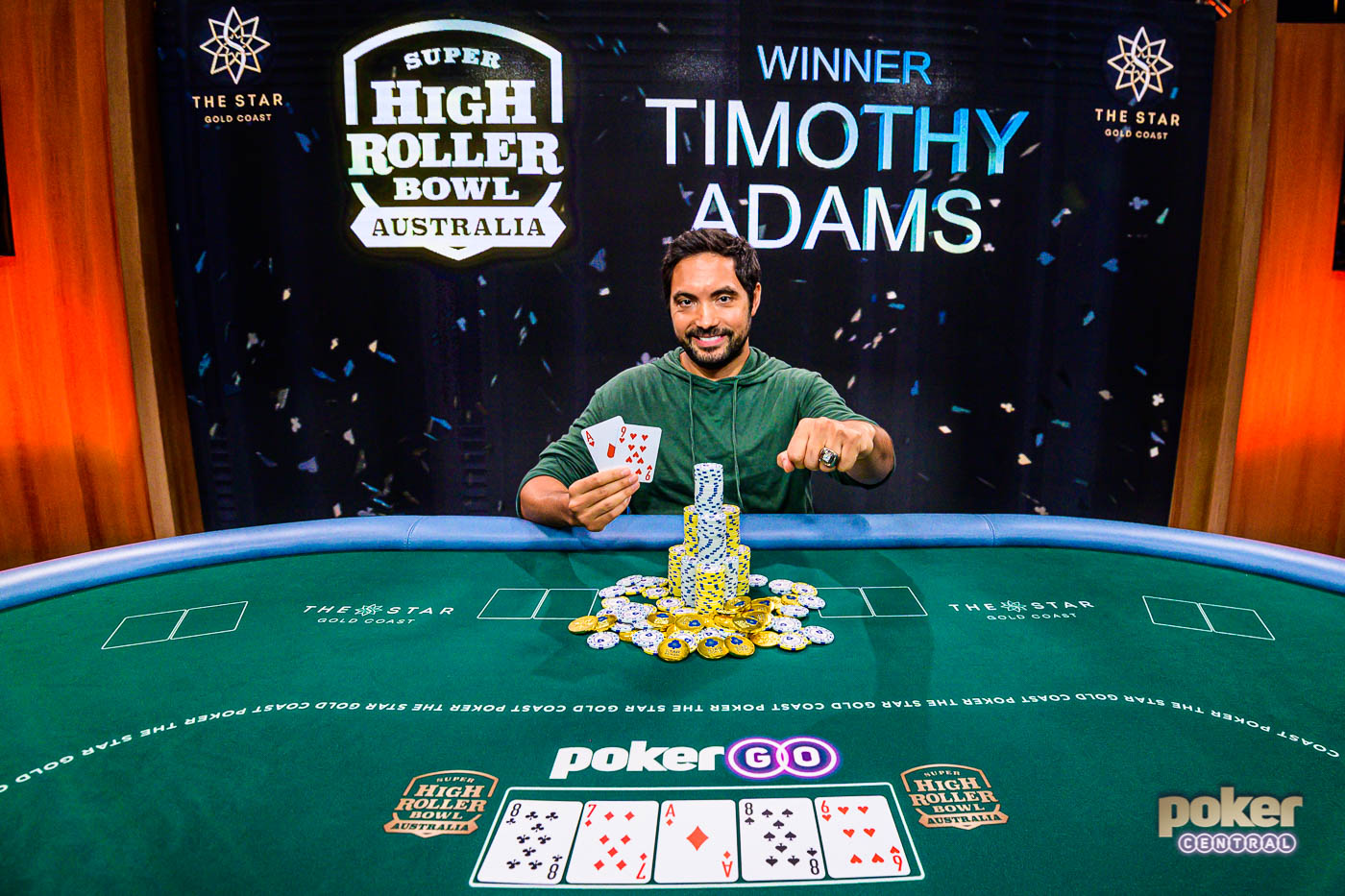 Timothy Adams wins inaugural Super High Roller Bowl Australia!
