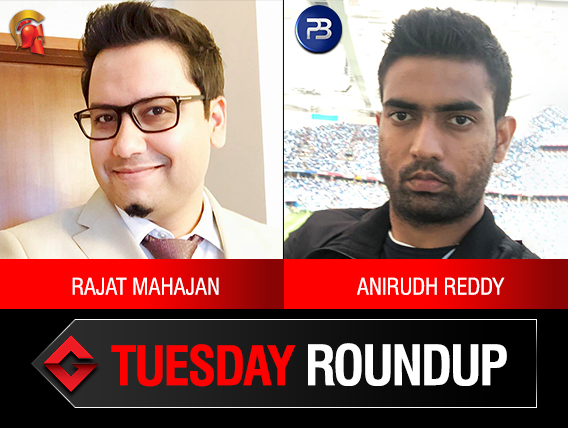 Tuesday Roundup: Mahajan and Reddy seize the day!