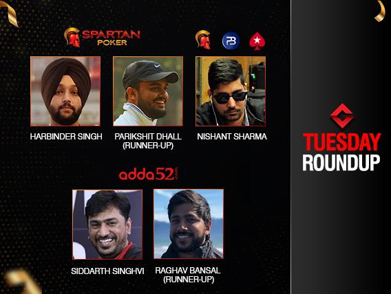 Tuesday Roundup: Nishant Sharma takes down 3 events last night!
