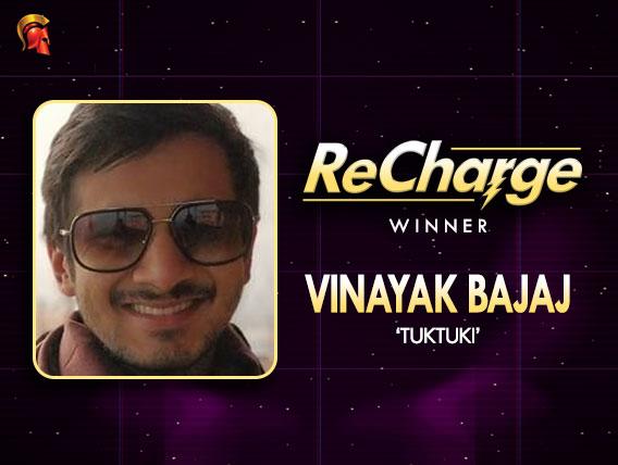 Vinayak Bajaj wins ReCharge on Spartan