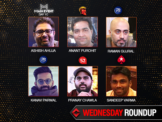 Wednesday Roundup: Ahuja leads Day 1C of Millionaire Main Event