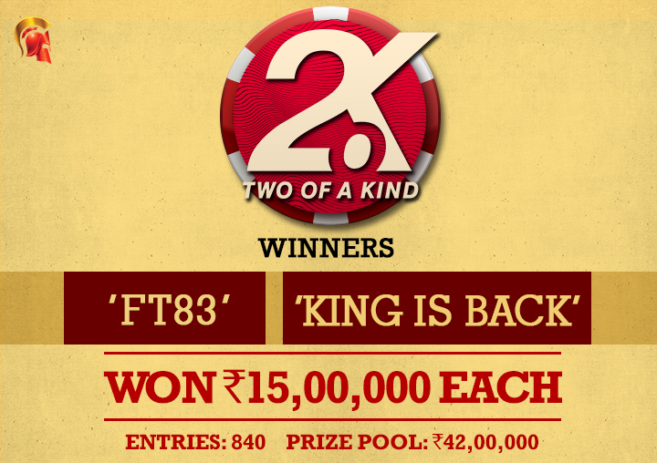 'ft83' and 'king is back' win 2.o.K on Spartan