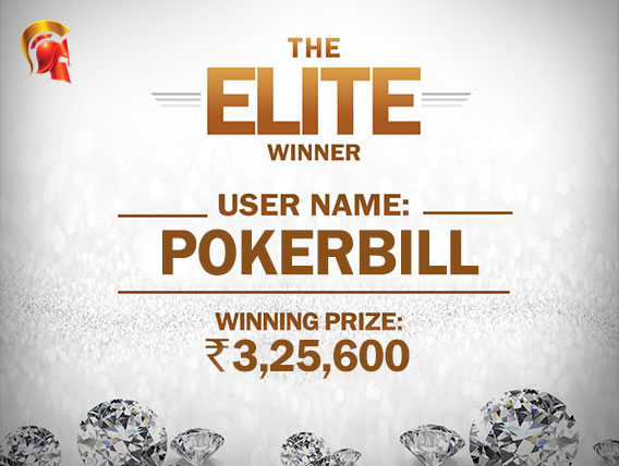 'pokerbill' wins The Elite at Spartan for INR 3,25,600