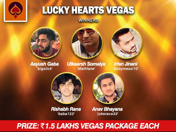 10 Vegas packages awarded in Lucky Hearts on UMA Poker