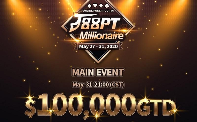 J88 Poker to host second edition of J88PT Millionaire!