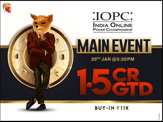 2019 IOPC's Main Event has a staggering 1.5CR GTD