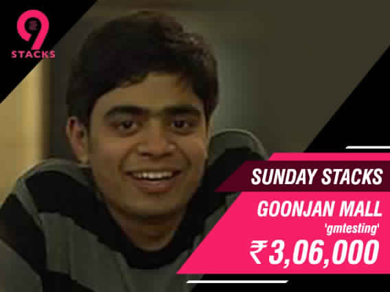 Goonjan Mall beats Neel Joshi to bag Sunday Stacks title
