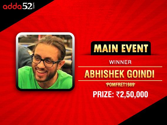 Abhishek Goindi Chips Up big time on Adda52