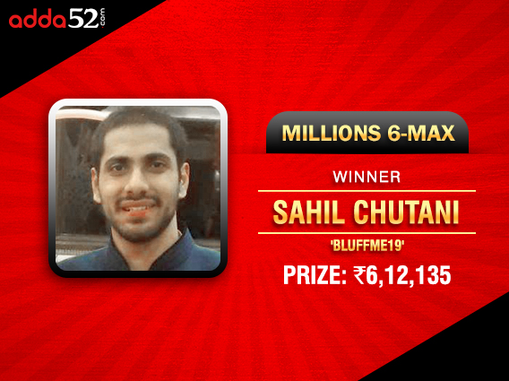 Adda52 Sahil Chutani wins Millions; 8 Vegas packages won