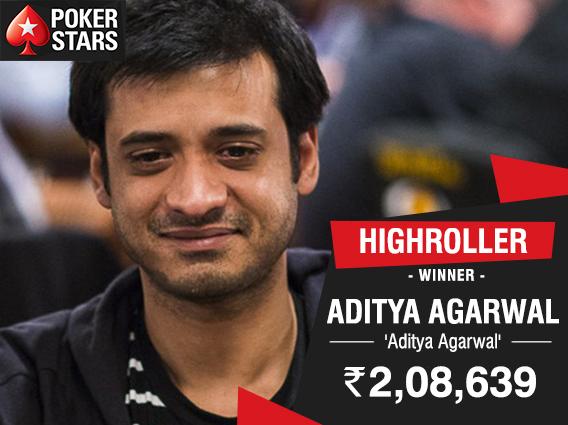 Aditya Agarwal chops PokerStars India Highroller