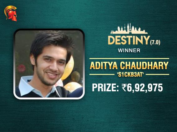 Aditya Chaudhary emerges as final Destiny 7.0 winner