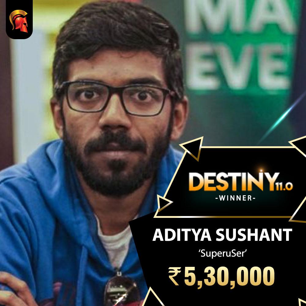 Aditya Sushant wins Destiny 11.0 title!