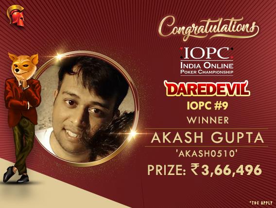 Akash Gupta wins IOPC's DareDevil after HU deal